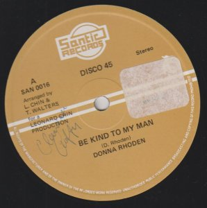 BE KIND TO MY MAN - Donna Rhoden