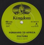 FORWARD TO AFRICA - Culture