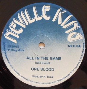 ALL IN THE GAME - One Blood