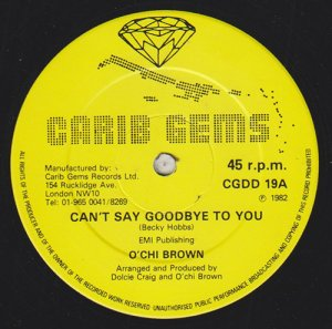 CAN'T SAY GOODBYE TO YOU - O'chi Brown