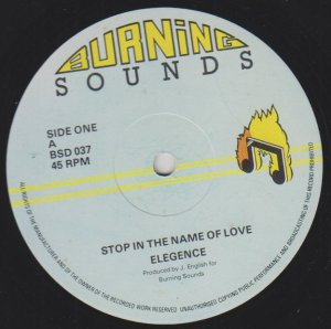 STOP IN THE NAME OF LOVE - Elegence
